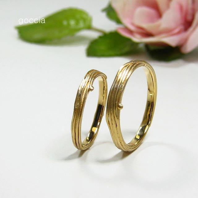 結婚指輪・ゴールド・蔓