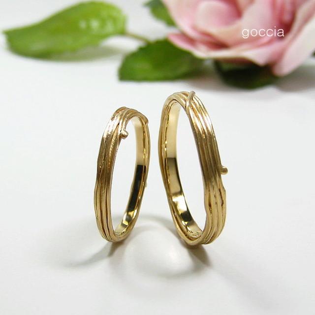 蔓・植物モチーフ・結婚指輪