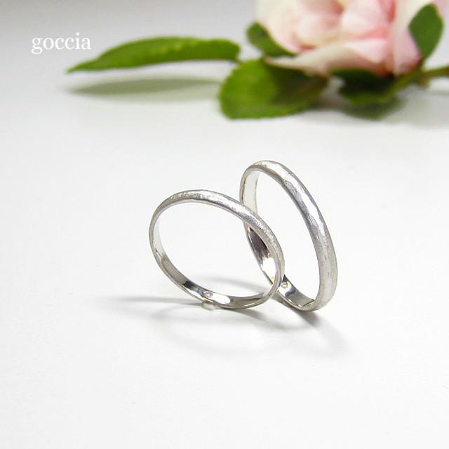 細めのハードプラチナ・結婚指輪