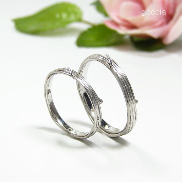 植物のデザイン・結婚指輪