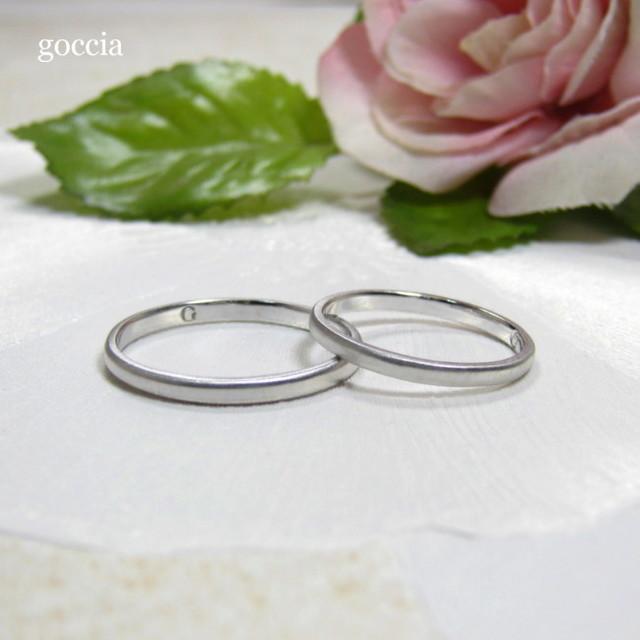 細いプラチナの結婚指輪