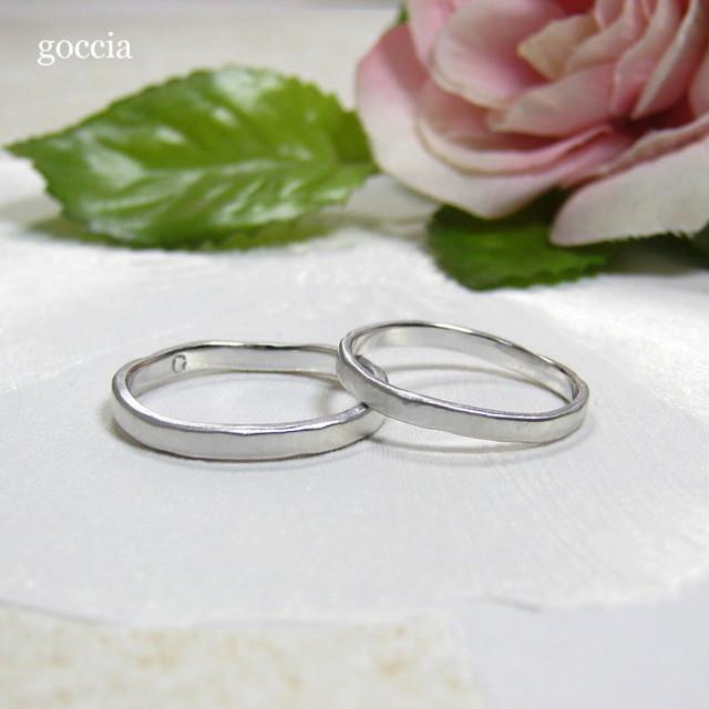 ナチュラルな結婚指輪・プラチナ