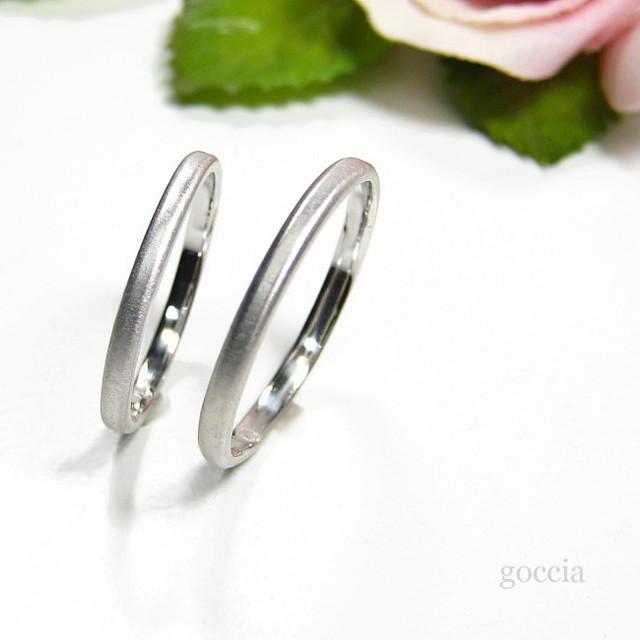 細めの結婚指輪・ハードプラチナ