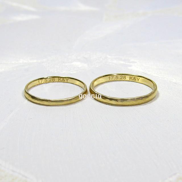 結婚指輪に入れる刻印
