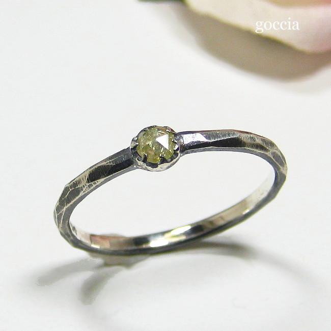 ローズカットダイヤモンドをリングに。