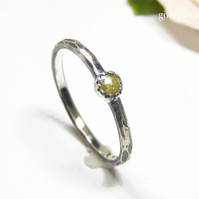 ローズカットダイヤの指輪