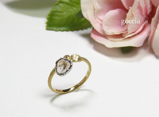 スライスダイヤモンドのリング