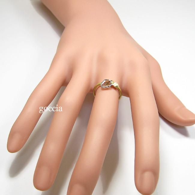 スライスダイヤモンドのリング・着用画像