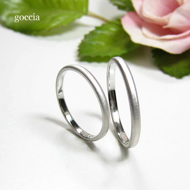 シンプルな結婚指輪・平甲丸