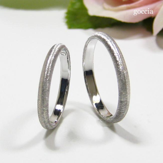 結婚指輪・甲丸ハードプラチナ