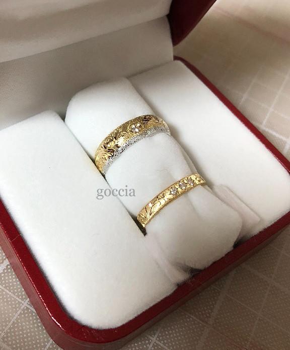 ダイヤの入った結婚指輪