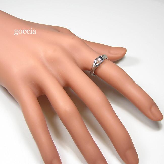スライスダイヤのリング・着用画像